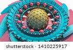 abstract futuristic three... | Shutterstock . vector #1410225917