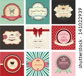 set of retro labels  retro cards | Shutterstock .eps vector #141022939