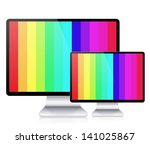 computer display isolated on... | Shutterstock . vector #141025867