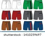 shorts design color template... | Shutterstock .eps vector #1410259697