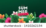 summer sale background with... | Shutterstock .eps vector #1410262154