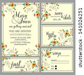 wedding invitation  thank you... | Shutterstock .eps vector #141026251
