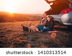 father and daughter with small...   Shutterstock . vector #1410313514