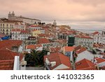 cluster of buildings of lisbon... | Shutterstock . vector #141032365