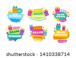 grand opening labels and badges ... | Shutterstock .eps vector #1410338714