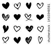 set of heart icon illustration... | Shutterstock .eps vector #1410348581