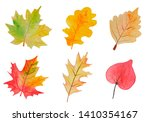 Autumn Leaves Watercolor Set....