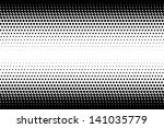 vector abstract halftone black... | Shutterstock .eps vector #141035779