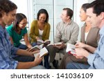bible group reading together | Shutterstock . vector #141036109