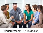 meeting of support group | Shutterstock . vector #141036154