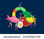 keto diet cartoon people... | Shutterstock .eps vector #1410366734