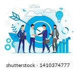 office situation meeting with... | Shutterstock .eps vector #1410374777