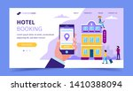 hotel booking landing page... | Shutterstock .eps vector #1410388094