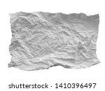 crumpled paper texture. white...   Shutterstock . vector #1410396497
