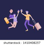 people travel on vacation....   Shutterstock .eps vector #1410408257