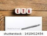 "cubes showing the acronym ""eta"" ... | Shutterstock . vector #1410412454"