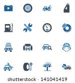 car repair icons | Shutterstock .eps vector #141041419