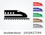 bullet train logos on rail... | Shutterstock .eps vector #1410417194