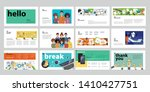 business presentation templates.... | Shutterstock .eps vector #1410427751