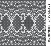 romantic lace seamless vector... | Shutterstock .eps vector #1410431621