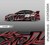 car livery design vector.... | Shutterstock .eps vector #1410436004