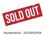 sold out rubber stamp. red sold ... | Shutterstock .eps vector #1410442934