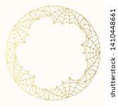 halloween golden round...   Shutterstock .eps vector #1410448661