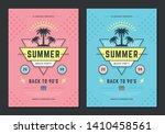 summer beach party flyer or... | Shutterstock .eps vector #1410458561