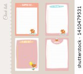 vector set of 4 to do lists... | Shutterstock .eps vector #1410479531