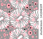 vector flowers seamless pattern | Shutterstock .eps vector #141048109