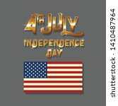 happy independence day 4th of... | Shutterstock .eps vector #1410487964