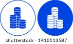 coins icon in circle. vector... | Shutterstock .eps vector #1410513587