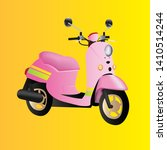 Beautiful Pink Summer Moped On...