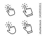 hand clicking icon set. finger...   Shutterstock .eps vector #1410531011
