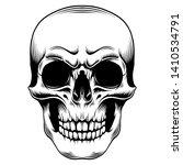 skull head vector. eps format   Shutterstock .eps vector #1410534791