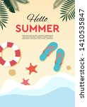 hello summer  holidays and... | Shutterstock .eps vector #1410535847