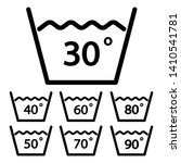temperature sign for washing... | Shutterstock .eps vector #1410541781