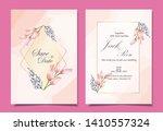 luxury wedding invitation cards ... | Shutterstock .eps vector #1410557324