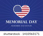 memorial day remember and honor ... | Shutterstock .eps vector #1410563171