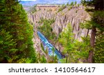 mountain forest river canyon... | Shutterstock . vector #1410564617