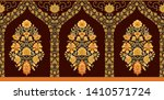 indian mughal flower motif... | Shutterstock . vector #1410571724