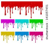 border of paint drips of... | Shutterstock .eps vector #141057451