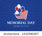 memorial day remember and honor ... | Shutterstock .eps vector #1410580307