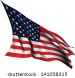 usa flag   old glory flag eps10 ... | Shutterstock .eps vector #141058315