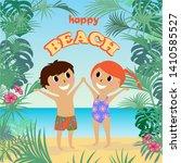 Vector Illustration Of Kids On...