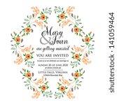 wedding invitation | Shutterstock .eps vector #141059464