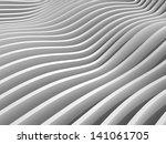 abstract monochrome 3d wave... | Shutterstock . vector #141061705