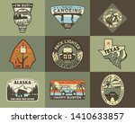 vintage hand drawn travel... | Shutterstock .eps vector #1410633857