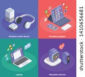 modern devices isometric design ... | Shutterstock .eps vector #1410656681