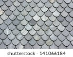 Close Up Of Slate Roof Tiles...